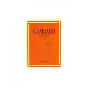 21 CAPRICCI PER CLARINETTO-GAMBARO